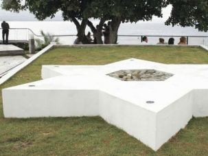 Place of Hope: A monument in Sosua, Dominican Republic, pays tribute to those who fled the Nazis to settle in Caribbean beach town.
