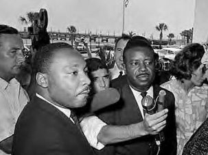 Fight in Sun: Dr. Martin Luther King Jr. and Ralph Abernathy confront mayor of St. Augustine, Fla., during 1964 civil rights protests.