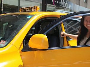Flagging Interest: Jing Wang Herman is the local head of GetTaxi, an Israeli company vying for the right to be New York?s official cab-hailing app.