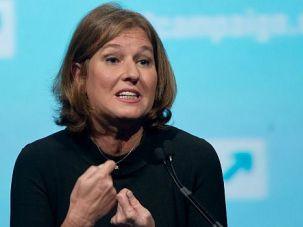 Bigger Tent: Tzipi Livni, the centrist leader of Israel?s peace talks delegation, addresses the J Street conference.