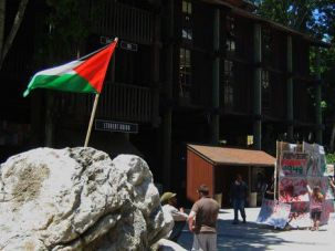 Free Speech? A pro-Palestinian protest at University of California Santa Cruz.