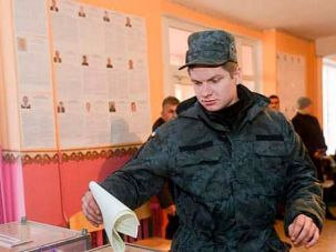 Vote: A Ukrainian soldier casts vote in recent elections. The vote offered a strong mandate to the pro-Western government — and a setback to anti-Semitic nationalists.