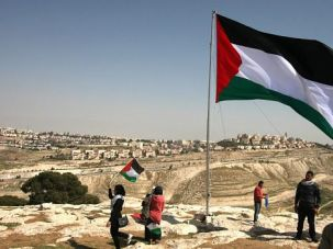 No Welcome: Palestinian demonstrators set up a camp on a controversial slice of the occupied West Bank to protest President Obama?s visit.