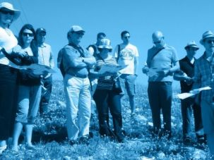 Fact-Finding: A Yachad tour overlooking the South Hebron Hills at the southern-most tip of the West Bank.