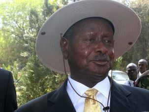 Stop the Hate: Protesters tried to deliver a petition urging Uganda President Yoweri Museveni to veto anti-gay legislation.