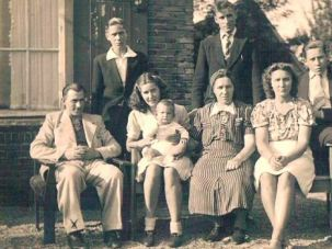 Zanoli Family: Henk Zanoli is second from right in this 1942 photo.