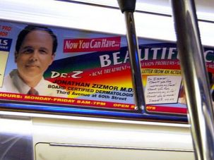 Underground Icon: Dr. Jonathan Zizmor?s ads are ubiquitous in the New York subway system. His role as a supporter of a rabbi accused in the Yeshiva U. abuse scandal is much less well-known.