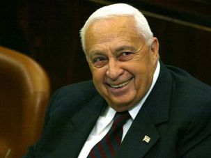 ?King Arik?: Ariel Sharon shares a laugh during 2004 Knesset session. The iconic Israeli general-turned-politician suffered a catastrophic stroke while serving as premier two years later.