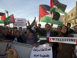 Bury the Hatchet: Palestinians rally in Gaza amid reconciliation meetings between rival factions.