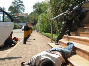 Terrorist Is the Word: Kenyan security forces battle with militants from the Somali Al-Shabaab terror group at the Westgate Mall in Nairobi.