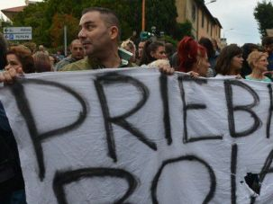 Not Again: A year after the death of Nazi criminal Erich Priebke sparked unrest in Rome, neo-Nazis held a public commemoration of his death.