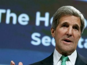 Impassioned Plea: John Kerry pleads with American Jewish Committee leaders to push harder for peace.