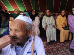 Moroccan Berbers celebrate a traditional wedding. A group of the minority community is seeking to build better ties with Jews and Israel.