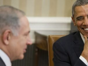 Better Days: Barack Obama and Benjamin Netanyahu chat in White House.