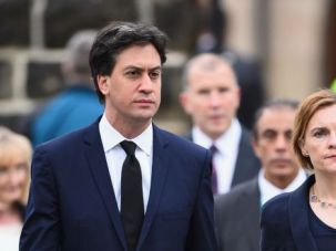 Get Tough? Britain's opposition Labour Party leader Ed Miliband, left, has called for tougher action against Israel over its Gaza campaign.