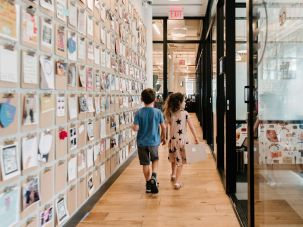 Students of the school pilot program at WeWork headquarters in New York City.