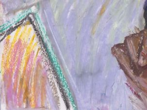 """Backlight"" oil pastels on paper"
