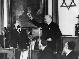 Sworn In: Chaim Weizmann becomes the first president of modern Israel.