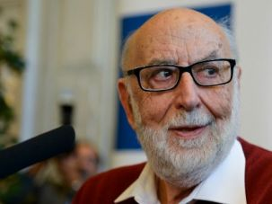 Nobel Man: Francois Englert won a share of the Nobel Prize for physics for his work on matter particles.
