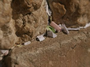 Marc Zell wrote a note thanking God for the Republican victory, and then slipped it between the cracks in the Kotel.