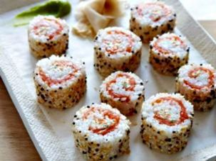 Everything bagel sushi rolls from The Food Network.