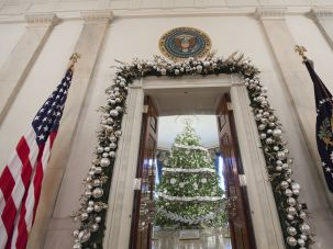 The 2016 White House Christmas tree.