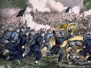 When Our House Was Divided: The Battle of Gettysburg, depicted above, was a key moment in the Civil War.