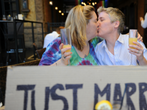 I Do: Gay couples were celebrating from coast to coast after the Supreme Court struck down laws banning gay marriage.