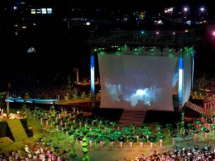 Let ?Em Begin: Hundreds of performers showed their stuff at the opening ceremony of the Maccabiah Games