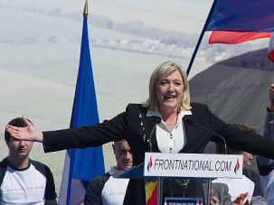 Far Right Earthquake: Marine Le Pen celebrates win in French elections for European parliament.