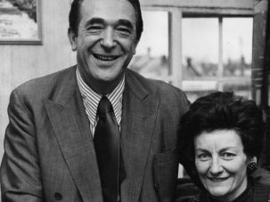 Mystery Couple: Elisabeth Maxwell shown with her husband, Robert Maxwell, who disappeared on his yacht in 1991.