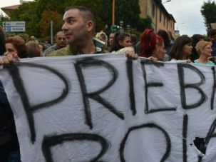 Nazi No More: Italian protesters jeer at funeral for convicted Nazi war criminal Erich Priebke.