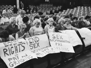 Women striking in 1968.