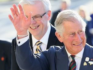 Heir of Controversy: Prince Charles greets well-wishers on trip to Canada.
