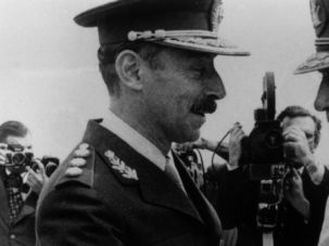 Birds of Feather: Argentine dictator Jorge Rafael Videla greets fellow South American strongman Augusto Pinochet.