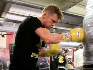 Yuri Foreman working out in Gleason's Gym in Brooklyn, Nov. 17, 2015.