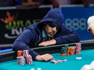 The Hooded Man:Stern amassed the second largest stack of chips at the World Series of Poker's Main Event.The Hooded Man: Stern amassed the second largest stack of chips at the World Series of Poker's Main Event.