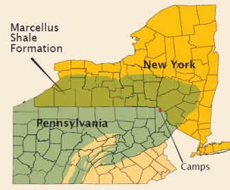 Fracking: Four Pennsylvania camps have inked drilling deals.