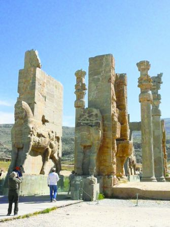 Still Standing: Persepolis, in Southern Iran, built by Darius the Great in the Sixth Century B.C.E. was the ceremonial capital of the Achaemenid Empire.