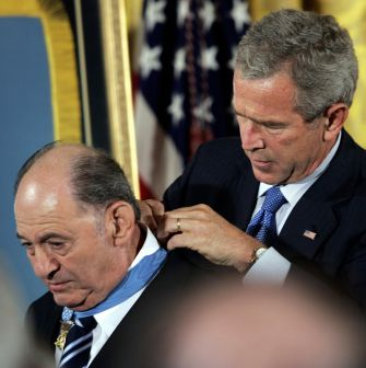 America's Highest Military Distinction: Tibor Rubin was awarded the Medal of Honor by President George W. Bush in 2005.