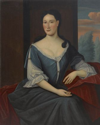 A portrait of Abigail Levy-Franks painted by Gerardus Duyckinck I.