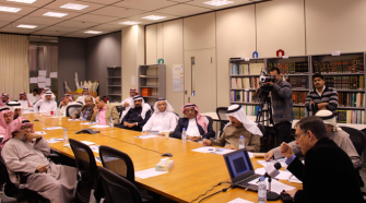 Jews in Islamic Life:Near East studies scholar Mark Cohen lectures on the Cairo Geniza to a male-only audience at King Saud University in Riyadh, Saudi Arabia. Women attending a different college campus were able to listen to the lecture by remote access.