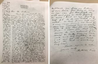 Mathilda Asch's letter to Aaron Stillman in 1945
