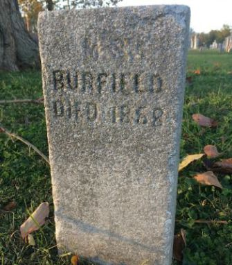 Unlucky in Death: Samuel A. Bierfield's tombstone in The Temple Cemetery, Nashville, gets his name and possibly his date of death wrong.