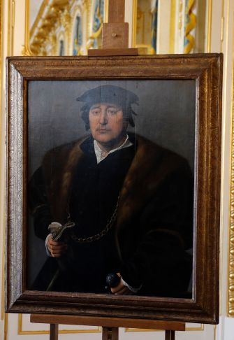 The Bromberg's painting, a 16th-century Flemish portrait attributed to either Joos or Cornelius van Cleve.