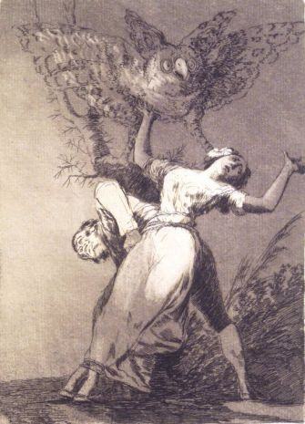 Feminist Statement? Francisco Goya's etching, 'Can't Anyone Untie Us?'