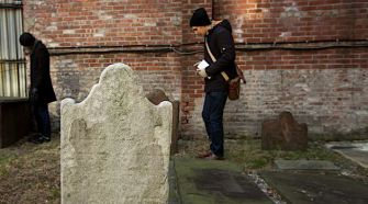 Chatham Square: The author looks for Luis Gomez?s grave in Shearith Israel?s old cemetery in Manhattan.