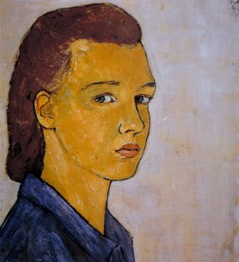 Charlotte Salomon, in a 1940 self portrait.