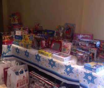 A Hanukkah toy drive organized by the Daniella Moffson Foundation.