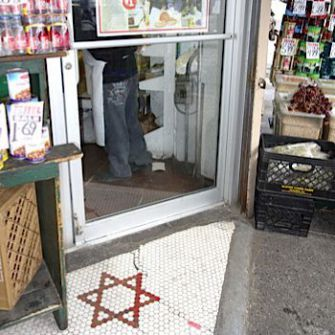 Dear Landlord: In the 1930s, Jacob Teitel laid this Jewish star in front of his store as a rebuke to his landlord.